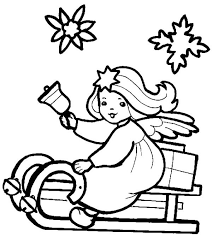 angel color pages little christmas angel on a sleigh coloring pages angel coloring