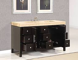 60 Inch Bathroom Vanit Silkroad 60 Inch Travertine Top Bathroom Vanity Roman Vein Cut