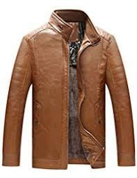 Leather Barn Coat Amazon Com Chouyatou Leather U0026 Faux Leather Jackets U0026 Coats