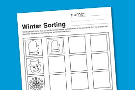 winter sorting worksheet paging supermom