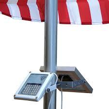 Flag Pole Wall Mount Alpha 180x Solar Flagpole Light For Flag Pole Lighting 3 Level