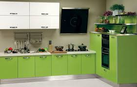 green white kitchen combination of the green color in the interior