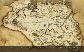 Naruto World Map by Paper Map With Height At Skyrim Nexus Mods And Community