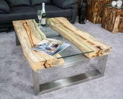 Wohnzimmertisch Holz Quadratisch Couchtisch Mit Holz Und Glas Couchtisch Aus Teak Wurzelholz Fr