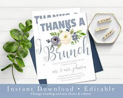 after wedding brunch invitation wording post wedding brunch etsy