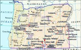 map of oregon detailed springs of oregon a detailed directory