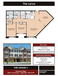 The Lenox Floor Plan Rosewood Village Phase Ii A Apartments 11211 John F Kennedy Dr