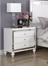 White Bedroom Night Tables Homelegance Alonza Night Stand White 1845 4