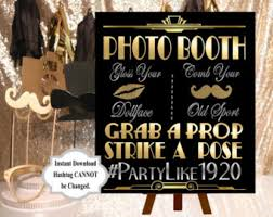 digital filephoto frame prop 24x36 gatsby party