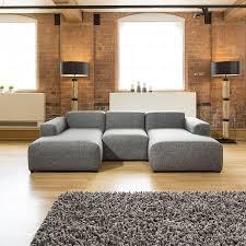 chaise master quatropi noni low line modern modular sofa grey fabric chaise master
