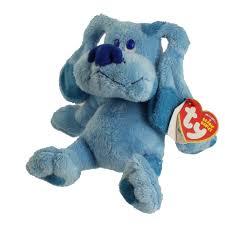 ty beanie baby blue the dog nick jr blue u0027s clues 6 5 inch