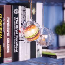 20 40pcs clear plastic balls fillable sphere bauble hanging