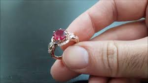 ruby engagement ring 14k gold ruby engagement ring pigeon blood ruby ring