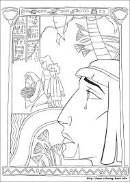 prince egypt coloring picture