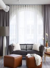 sheers over large window in living room grey and white ripplefold dry and sheers more