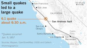 Santa Barbara California Map Seismologists Hope To Create Earthquake Forecasts For California