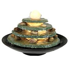 Lighted Water Fountains Outdoor by Sea Glass Fountain Tabletop Or Outdoor
