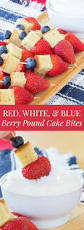 red white and blue berry pound cake bites for sundaysupper