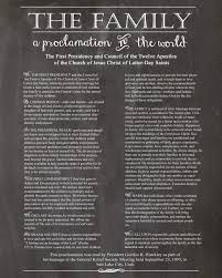 family proclamation discovered talents family proclamation