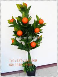 whole sale artificial fruit tree fake orange tree bonsai