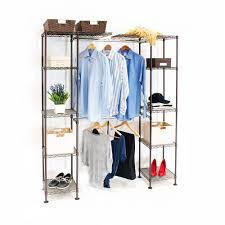 Wardrobe Organiser by Expandable Closet Organizer System Satin Bronze Seville Classics
