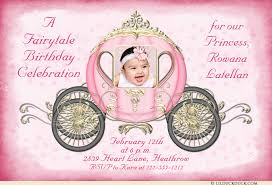 fairytale coach birthday invitation princess cinderella