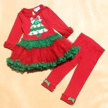 girls christmas dress red striped knit christmas trees bonnie jean