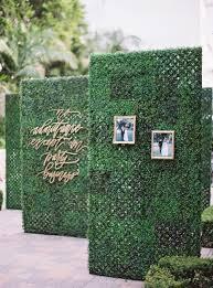 wedding entrance backdrop labyrinth entrance hedge wedding signage and decor