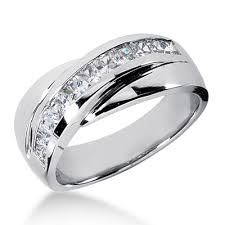 mens wedding bands with diamonds platinum men s diamond wedding band 1ct diamond wedding rings