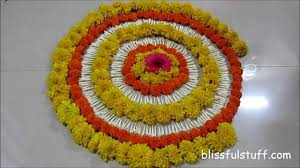 decor simple rangoli decoration with flowers best home design