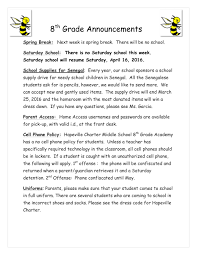 8th grade newsletter u2014 hapeville charter middle
