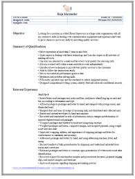 Sample Resume For Clerk by Professional Curriculum Vitae Resume Template For All Job