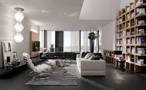 modern wall mounted flat tv design open plan wall bookshelves