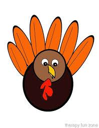 scissor cutting turkey template therapy fun zone