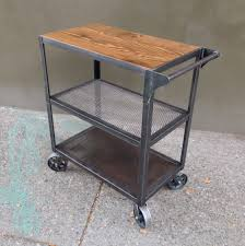 Industrial Kitchen Cart by Industrial Bar Cart Bar Cart Kitchen Cart Serving Cart
