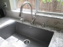 blanco metallic gray sink blanco precis super undermount granite 32 in single bowl kitchen
