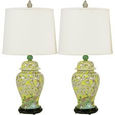 Yellow Table Lamp Lamps Chic Ginger Jar Lamps For Unusual Table Lighting Ideas