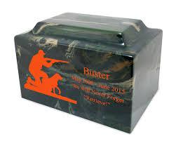dog cremation dog camouflage cultured marble pet cremation urn vault