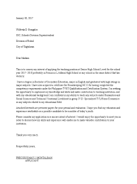 Business Acquisition Letter Of Intent by Letter Of Intent For Teacher 1 Senior High Applicant