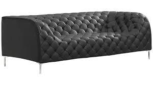 Tufted Faux Leather Sofa Elijah Sofa Zuri Furniture