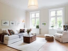 Elegant white living room decor trend House design