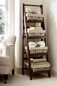 Bathroom Shelves Ideas Bathroom Shelving Ideas Two Tone Floral Pattern Shower Curtain