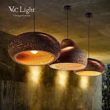 Paper Pendant Shade Vc Industrial Vintage Recyclable Paper Pendant Lights For Living