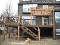 evergrain composite deck with cedar pergola by dw elite decks in