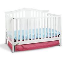 Baby Crib With Mattress Included Graco Solano 4 In 1 Convertible Crib White Ebay