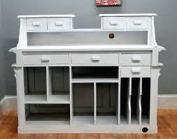 Antique Reception Desk Desk White French Style Writing Desk Mesmerizing Image Of