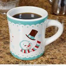snowman holiday stoneware mug christmas coffee mugs