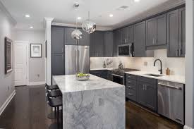 grey kitchen cabinets with brown wood floors 75 beautiful wood floor kitchen with gray cabinets