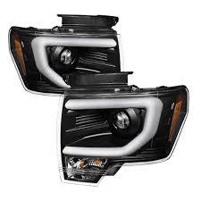jeep black headlights f150 headlight daytime running bar black pair halogen 2009 14