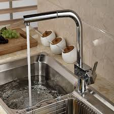 new chrome pull out kitchen faucet square brass kitchen mixer sink wholesale and retail brand new pull out chrome brass kitchen